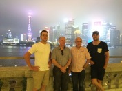 Shanghai with Dad, Graeme and Pearcy